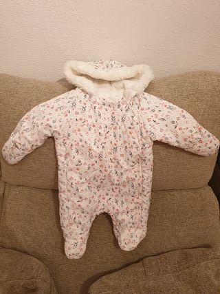 2 Mono / buzo invierno bebé 0-3 meses