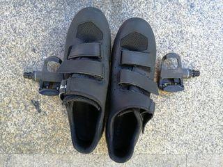 pedales look con calas look y zapatillas