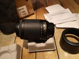 objetivo tele 55-200 VR nikkor Nikon IMPOLUTO