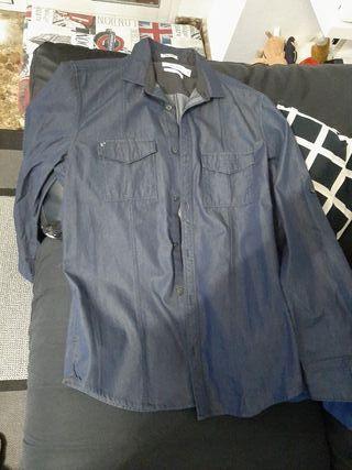 Camisa azul Calvin Klein talla S hombre