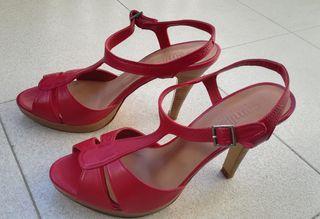 sandalias rojas fiesta Camilla's