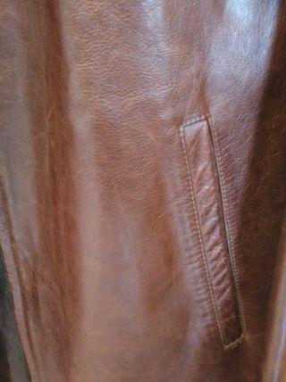 chaquetón de cuero hombre