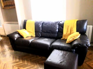 Impecable sofa de piel