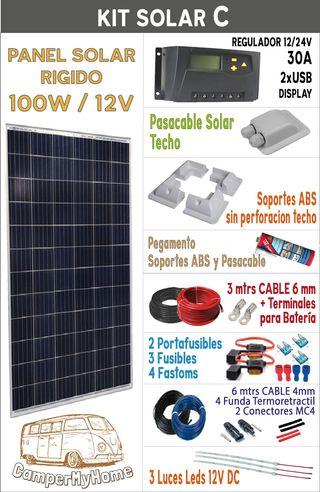 KITS energía solar CAMPERS! CONTINUAMOS ENVIANDO!