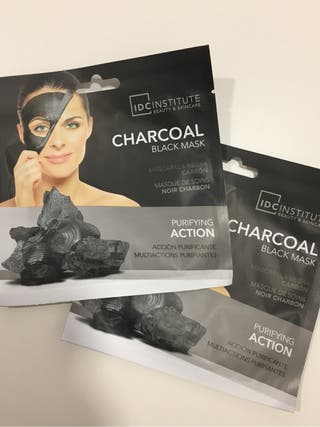 Pack 10 Mascarilla Facial Black Mask