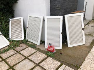 6 venecianas /contraventanas de PVC blanca