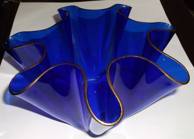 Chance Brothers Glass Handkerchief Vases
