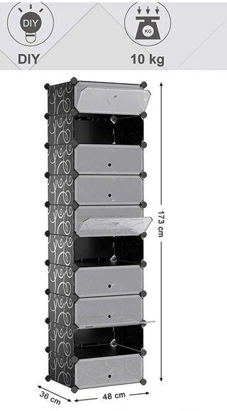 2 Armarios modulares para organización