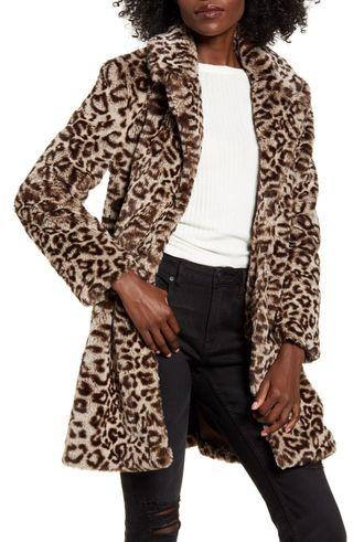 Abrigo de leopardo piel Natural