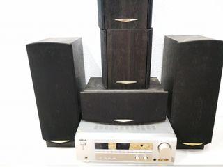 Amplificador Eltax Avr-900 Con 5 Altavoces Kenwood