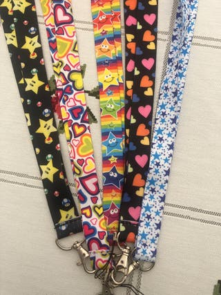 Colourful lanyards