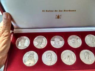 Medallas Reino de los Borbones Plata Fina