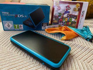 New Nintendo 2DS XL negra y azul + JUEGO+ FUNDA