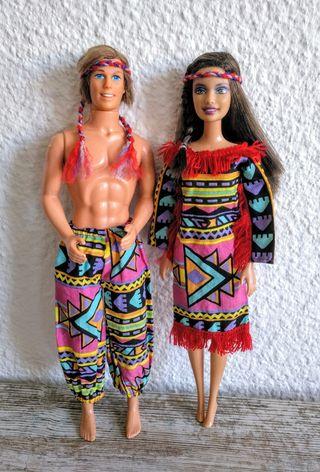 Barbie y Ken indios 2 X 12€