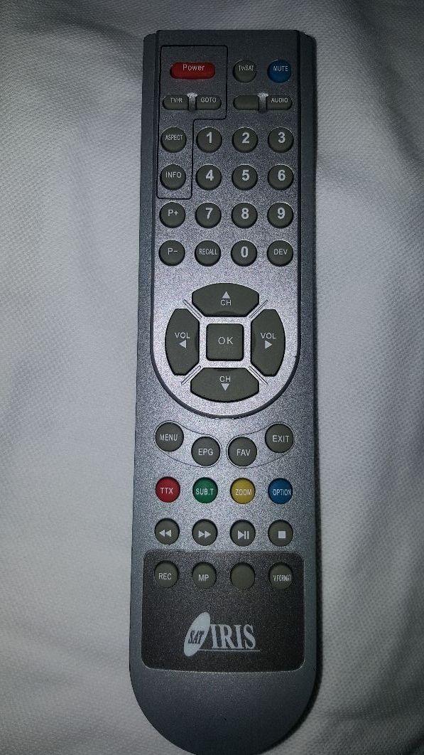 mando decodificador satélite iris