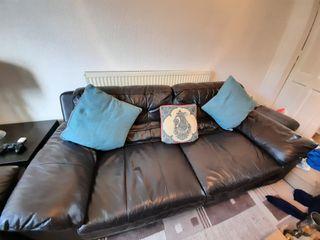 7 Seater sofa leather