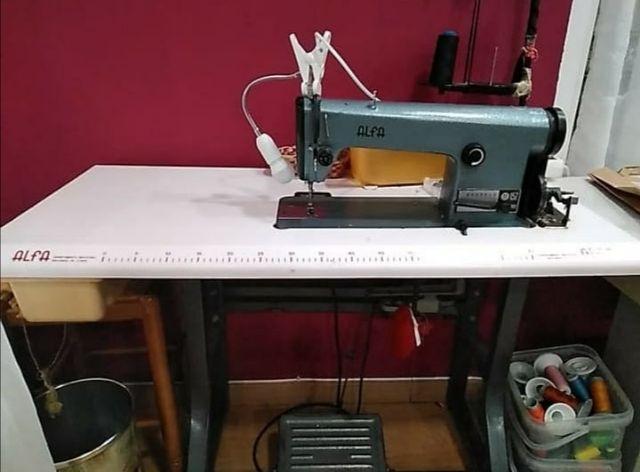 Maquina de coser industrial plana de segunda mano por 100