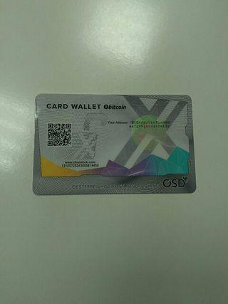 Card wallet bitcoin