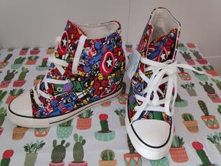 Zapatillas Cuña Comic Vengadores T40