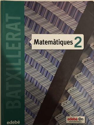 Libro de matemáticas 2 bachillerato