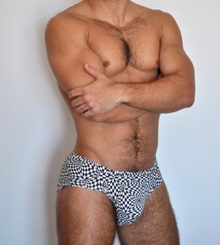 Sexy bañador tipo slip con push-up para hombre