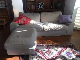Sofa 3 plazas + Reposapiés con almacenaje