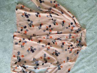 camisa sedosa barcos,palmeras,sombrillas