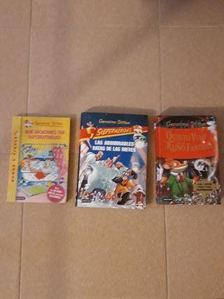Pack de 3 libros Geronimo Stilton