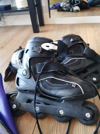 patines en linea negros