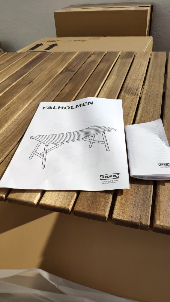 montaje muebles terraza jardín Ikea económico