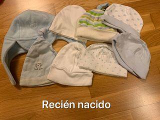 Gorros y manoplas recién nacido