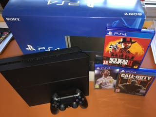 Playstation 4 + Mando + 3 Juegos