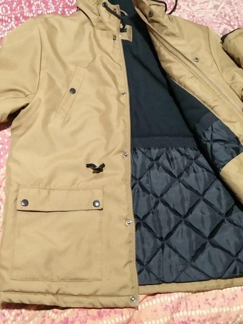 Chaqueta/chaquetón/abrigo marrón hombre