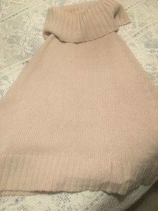 Poncho-jersey cuello vuelto mujer