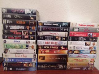 Películas VHS, lote