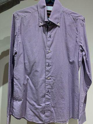 Camisa de cuadros morada 7camicie