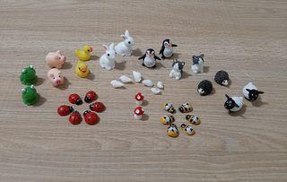Kit miniaturas animales casita de muñecas / jardin