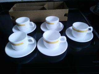 5 tazas café