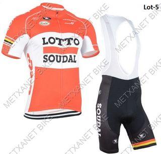 Equipación ciclismo verano Lotto Soudal t. L