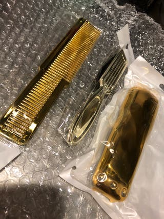 Carcasa wahl peine/cepillo gold
