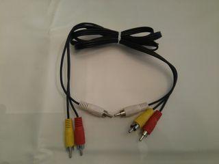 Cable adaptador para conexión RCA triple