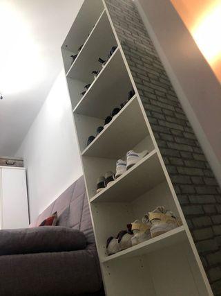 Mueble alto estante cómoda columna zapatero
