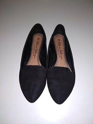 bailarina zapato mujer plano negro