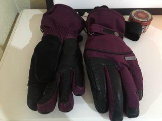 Guantes WEDZE talla M y color LILA para nieve