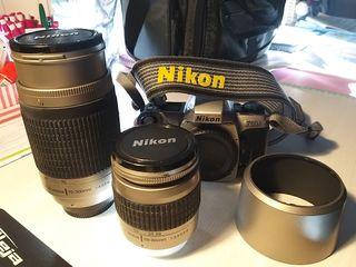Nikon F65 + objetivos + parasol