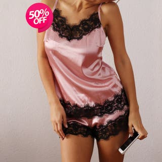 Sexy pijamas, ropa de dormir,mujer, rosa S/M/XXL