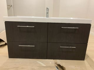 Mueble IKEA de baño+lavabo+grifo