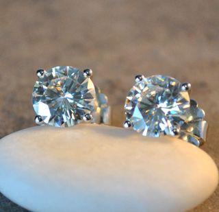 Moissanite Stud Earrings ~ Buy for your Valentine!