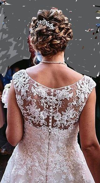 Vestido novia Pronovias, talla 38 Varias capas tul