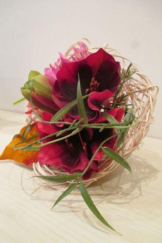 Base con flores